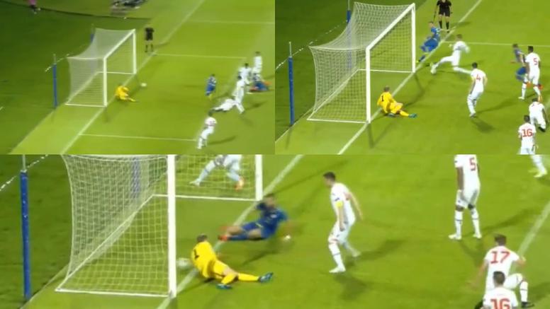 Nuhiu metió el segundo gol de Kosovo. Captura/ESPN