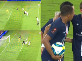 Mbappe scored PSG's first goal of the new season. Captura/beINSports