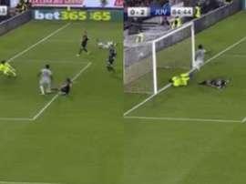 Il goal di Kean contro il Cagliari. SkySport