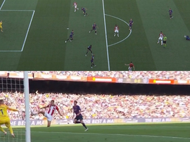 De Marcos gave Athletic the lead. Captura/beINSports
