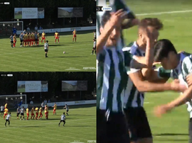 Paik demostró con un golazo el porqué juega con el Girona. Captura/Footters