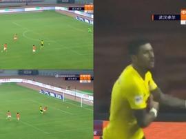 Paulinho a marqué. Capture/ASTV