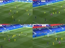El jugadón 'messianesco' de Nico Rodríguez para adelantar al Barça. Captura/Vamos