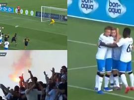 Avetisyan estrenó de penalti la cuenta goleadora de la Champions. Captura&LeScoralik