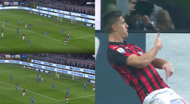 Piatek inscrit son septième but. Capture/beINSports/Vamos