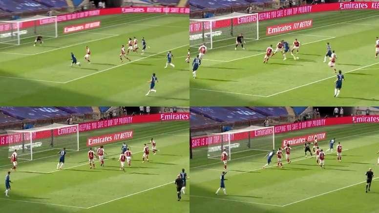 El Chelsea hizo un jugadón. Capturas/DAZN