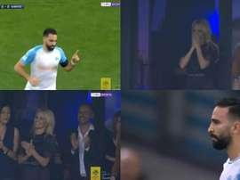 Un gol muy celebrado por Pamela Anderson. Captura/beINSports