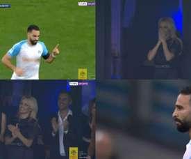 Um gol bastante celebrado por Pamela Anderson. Captura/beINSports