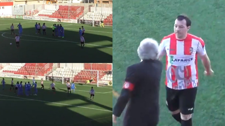 Rubén Suárez marcó el 1-0. Captura/Footters