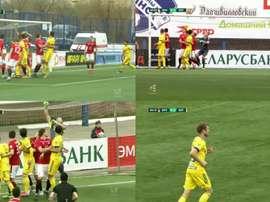 Le but d'anthologie en Biélorussie pour montrer que le football est toujours en vie. Capturas/BET365