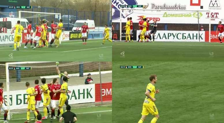 Nekhajchik anotó un tanto de córner directo. Capturas/BET365
