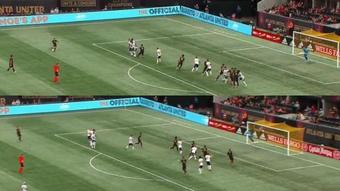 Barco marcó un golazo de falta desde 30 metros. Twitter/MLS