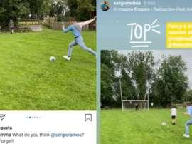 Sergio Ramos convida Conor McGregor para treinar no Real Madrid. Capturas/Instagram/thenotoriousmma/