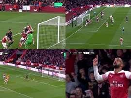 Muchos goles en los primeros minutos. Capturas/Movistar+Ligadecampeones