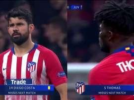 Costa y Thomas se perderán la vuelta. Captura/Univisión