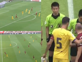 Barca wore their away kit for the first time this pre-season against Vissel Kobe. Captura/BarcaTV