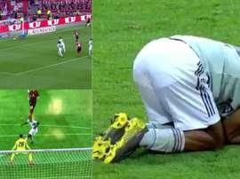 El penalti y el fallo en el 95 que pudieron cambiar la Bundesliga. Capturas/Movistar
