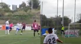 Un gol para la historia. Captura/UDAGramanet