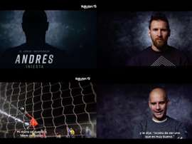 Messi et Neymar, présents dans le documentaire sur Iniesta. Captures/RakutenTV