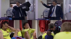 Valverde ficou tão bravo que acabou jogando seu casaco. Capturas/MATCHDAY