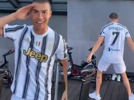 Cristiano Ronaldo sending his best wishes to his team. Screenshot/Cristiano