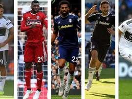 El Fulham y sus cinco pieles. TheGuardian/Rex/Getty/PA