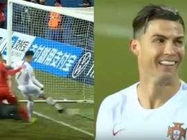 Pas de 100e mais un 99e but pour Cristiano Ronaldo. Captures/Cuatro