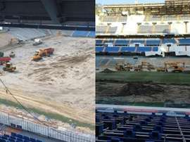 The Santiago Bernabeu like you've never seen it before. Twitter/RoberIzquierdo