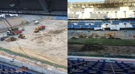 El estado actual del Bernabéu, más que sorprendente. Twitter/RoberIzquierdo