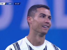 L'espressione di Ronaldo dopo il 2-0. ESPN2