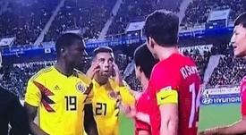 Colombia cayó ante Corea, y el recuerdo del gesto de Cardona volvió. Twitter