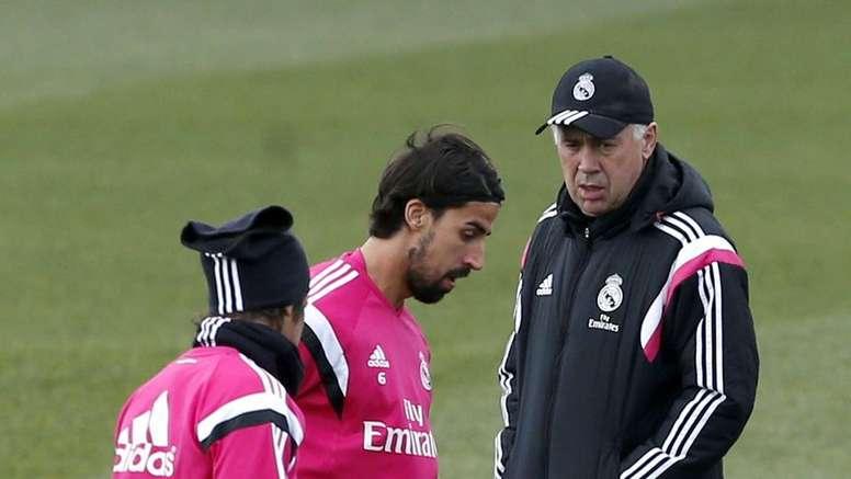Ancelotti would work with Khedira again. EFE