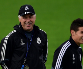 Ancelotti does not think James Rodriguez will make a move to Everton. AFP