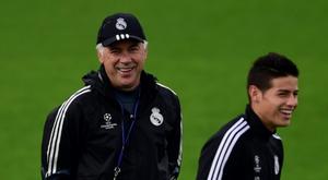 Ancelotti gostaria de contar com James. AFP