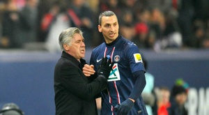 Carlo Ancelotti répond à Zlatan Ibrahimovic. EFE/AFP