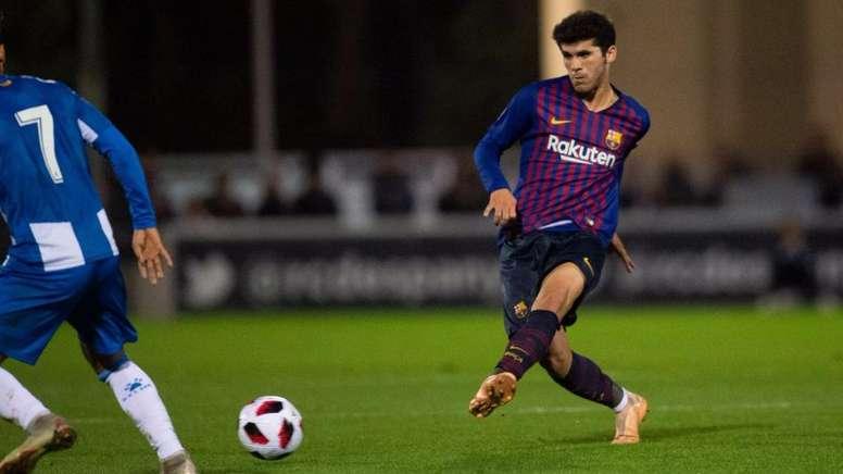 Il centrocampista spagnolo Aleña è seguito anche dal Milan. Twitter/FCBarcelonaB