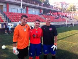 Carlos Carulla, Iván Fuentes y Sergi Rueda. FCMartinenc
