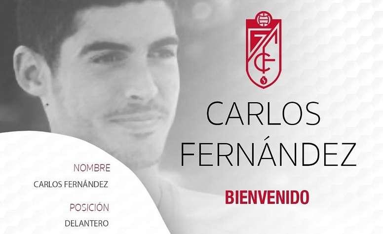 Carlos Fernandez prêté à Grenade.  GranadaCF