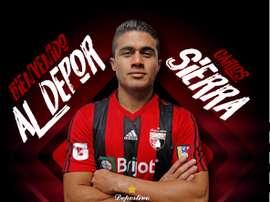El colombiano vestirá la camiseta rojinegra este semestre. DeportivoLara