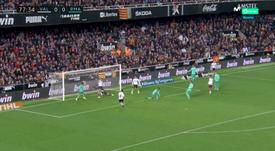 Soler brise les espoirs de 1ère place du Real Madrid. Capture/Movistar+LaLiga