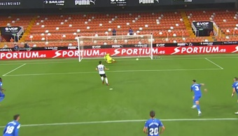 Soler scored the first goal of La Liga 2021/22! Captura/MovistarLaLiga