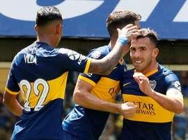 Tévez quer entrar em seleto grupo de goleadores do Boca. Twitter/BocaJrsOficial