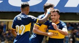 Le joli retourné de Tévez avec Boca Juniors. Twitter/BocaJrsOficial