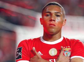 A temporada de Carlos Vinicius no Benfica é digna de elogios. SLBenfica