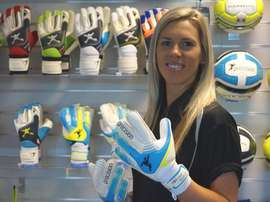 Carly Telford has helped to design the first-ever goalie gloves designed for women. Precision Training UK