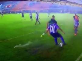 Increíble jugada en la Copa Argentina. Twitter