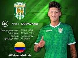 Carrascal, nuevo jugador del Karpaty. KarpatyLviv