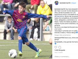 Lederman, otro que se va de La Masia. Captura/BenLederman10