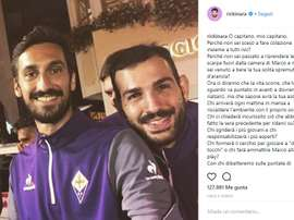 Fiorentina's Saponara in emotional Astori tribute. Instagram @Rickinara