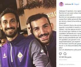 Fiorentina's Saponara in emotional Astori tribute. Instagram @Rickinara